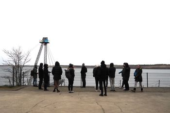 Exkursionsgruppe an den IBA-Terassen in Großräschen