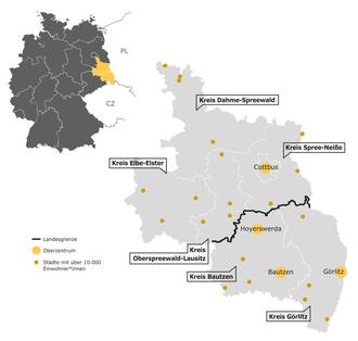Karte Lausitz